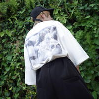 【AFYF】 COOL TECH (冷感接触素材)  PRINT BIGTEE [DARK BEAR CLOUD-WHITE]