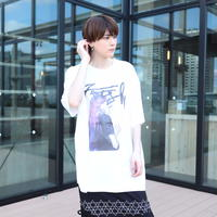 【AFYF】 MESH OVERSIZED T SHIRT [HAIR MESH-WHITE]