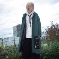 【AFYF】SWEADE PATCH COAT[DARK GREEN]/8C20092002