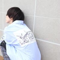 【AFYF】LONG BIG SHIRT [GERNICA-SAX] / 3S19110905