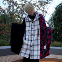 【CLASSIC ROV】TRILINGUAL PONCHO [BLACK/NAVY/RED]