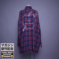 ダークベアーバザール 限定生産アイテム【rovtski】 🍎🍏DARK APPLE CHECK SHIRT【APPLE-NAVY/PURPLE】 / 2S20090403