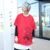 【AFYF ON GILDAN社】 RAINBOW BEAR T SHIRT [RED]