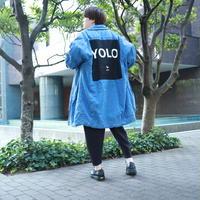 【AFYF】DENIM BOA INNER LONG BIG G JAM[MID INDIGO-YOLO]
