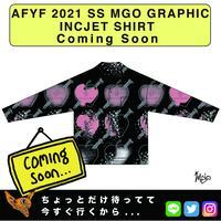 ネオ文芸派🎃短編小説     『DARK APPLE』【AFYF】 2021 SS MGO GRAPHIC INCJET 開襟シャツ-BLACK