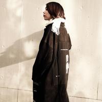 【AFYF】SWEADE PATCH COAT[BLACK]