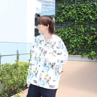 【AFYF】 MGO GRAPHIC INCJET SHIRT [SMELLS-WHITE]