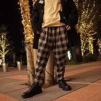 【CLASSIC ROV】 RELAX PANT[CHECK-BLK×ORG]
