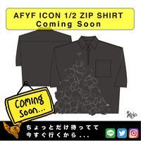 【AFYF】 ICON 1/2 ZIP SHIRT [BLK-TSUMU TSUMU]