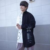 【AFYF】BILINGUAL LONG SHIRT[BLACK/WHITE]