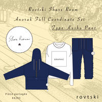 【ROVTSKI】SHARE ROOM ANORAK  FULL COORDINATE SET [TYPE-KUSHU PANT ]