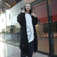 【AFYF】SWEADE LONG ZIP PARKA[BLACK/HEART WHITE]