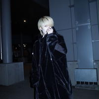 【AFYF】ASYME ZIP PARKA [FAKE FUR  BLACK]