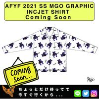 ネオ文芸派🎃プチカワ小説     『STUFFED  BEAR XOXO』【AFYF】 2021 SS MGO GRAPHIC INCJET 開襟シャツ-WHITE