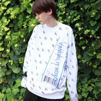 【AFYF】10 OZ SWEAT CREW [XOXO-WHITE]/7K17050701