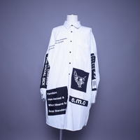 【AFYF】EMBLEM BIG SHIRT [STRIPE WHITE]/7S19062410