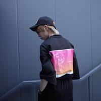 【AFYF】 COOL TECH (冷感接触素材)  PRINT BIGTEE [YOLO INSTAGRAM-BLACK] / 4T20021527