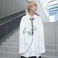 【AFYF】POLY DARK APPLE SHIRT[APPLE-WHITE]