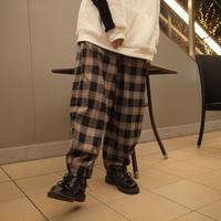 【AFYF】ALADIN PANT[CHECK-BLK×ORG]/7B20090502