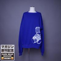 ダークベアーバザール 限定生産アイテム【AFYF】 SPECIAL 裏起毛 DROP SHOLDER CREW SWEAT 【DARK BEAR-ROYAL BLUE】 / 8K20090410