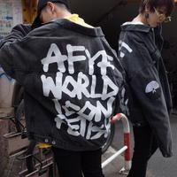 【AFYF】 OVERSIZE G JUM    [BLACK CHEMICAL-ICON]