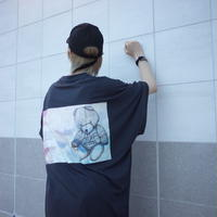 【AFYF】 COOL TECH (冷感接触素材) PRINT TRIANGLE TEE [FLOAT ACID-BLACK]