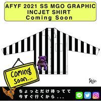 ネオ文芸派🎃短編小説     『ROOM STRIPES BEAR』【AFYF】 2021 SS MGO GRAPHIC INCJET 開襟シャツ-BLACK