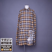 ダークベアーバザール 限定生産アイテム【rovtski】SPECIAL CHECK BIG LONG SHIRT 【DARK BEAR-BEIGE/ORANGE2】 / 7S20090433