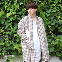 【AFYF】MODE LONG SHIRT VANDALISM [ BEIGE CHECK ] / 2S18101500