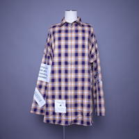 【AFYF】POLY LONG ZIP SHIRT  [ORANGE CHECK]