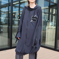 【AFYF】 COOL TECH (冷感接触素材) LONG ZIP PARKA QT SL [LOVEART-BLACK]