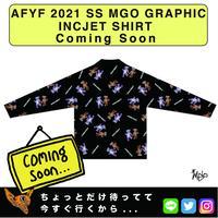 ネオ文芸派🎃短編ユーモア小説     『DANCE BEAR FRIEND』【AFYF】 2021 SS MGO GRAPHIC INCJET 開襟シャツ-BLACK
