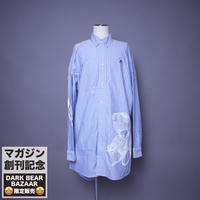 ダークベアーバザール 限定生産アイテム【AFYF】SPECIAL  COTTON  BIG SHIRT【DARK BEAR&ANIMAL-SAX/WHITE】