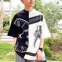 【AFYF】 16/1 OPENENDSS T SHIRT [BK/WH CLOCK]