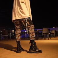 【AFYF】BASIC FOR OVSIZE SKINNY RIB PANT[CHECK-BEIGE]