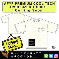 【AFYF】PREMIUM COOL TECH (冷感接触素材) OVRESIZED T SHIRT [PEKE SMILE NIRVAISM-WHT]
