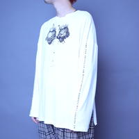 【AFYF】BASIC OVERSIZED GRAPHIC LST [HEART-Ⅲ-WHITE]