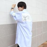 【AFYF】LONG BIG SHIRT [GERNICA-BLUE/WHITE]
