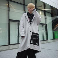 【AFYF】SWEADE PATCH COAT[LIGHT GREY]/8C20092002