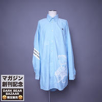 ダークベアーバザール 限定生産アイテム【AFYF】 SPECIAL COTTON  BIG SHIRT 【DARK BEAR&ANIMAL-MINT DOT】