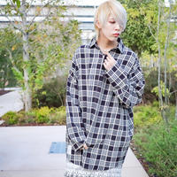 【CLASSIC ROV】 TROPICAL (清涼スーツ素材) FULL ZIP SHIRT [BLACK CHECK]
