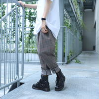 【CLASSIC ROV】COOL TECH (冷感接触素材) RELAX TEPARD PANT [BROWN CHECK] /5B19123100