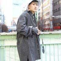 【AFYF】MODE LONG SHIRT VANDALISM [ BLACK/WHITE CHECK ]