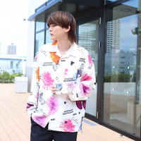 【AFYF】 MGO GRAPHIC INCJET SHIRT [FLOWER-WHITE]