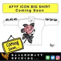 【AFYF】  ICON BIG SHIRT[ROSE-WHT]