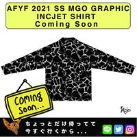 ネオ文芸派🎃エッセイ     『UFO CATCHER』【AFYF】 2021 SS MGO GRAPHIC INCJET 開襟シャツ-BLACK