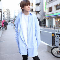 【AFYF】MODE LONG SHIRT VANDALISM [ SAX/WHITE STRIPE]