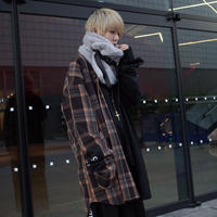 【AFYF】BILINGUAL LONG SHIRT[BLACK/BK×BEI×RED]