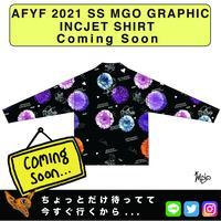 ネオ文芸派🎃純愛小説     『ACID FLOWER PUT ON.....』【AFYF】 2021 SS MGO GRAPHIC INCJET 開襟シャツ-BLACK