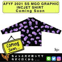 ネオ文芸派🎃エッセイ     『FABLOUS BLOSSOM』【AFYF】 2021 SS MGO GRAPHIC INCJET 開襟シャツ-BLACK